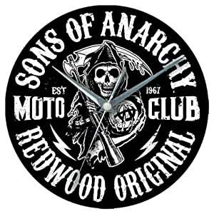 Amazon.com: Sons of Anarchy Redwood Original Glass Clock