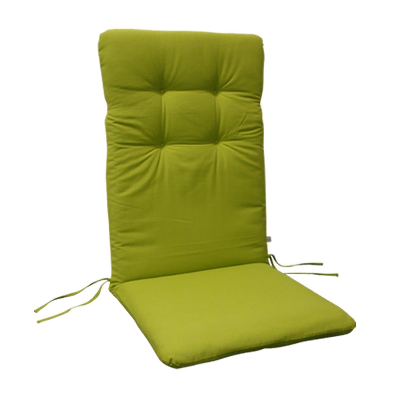 indoba® IND-70401-AUHL-6 - Serie Relax - Gartenstuhl Auflagen - Hochlehner, Grün - 6 Stück