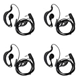 Baofeng Two-way Radio Headset Fit for Baofeng UV 5R/5RA/5RA+/5RB/5RC/5RD/5RE/5RE+ 666s 777s 888s Walkie Talkie (4 pack)