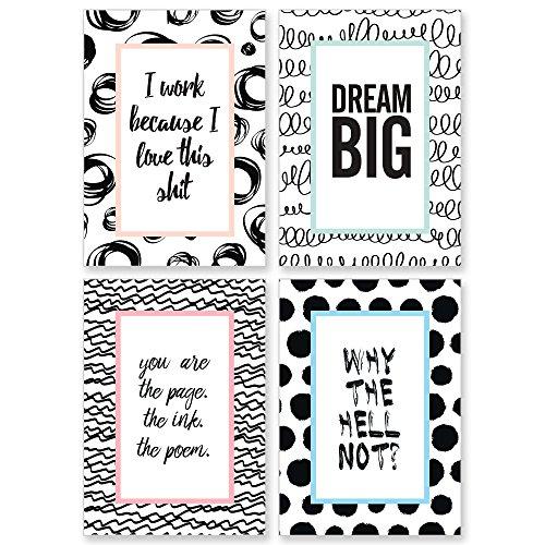 cupcakes kisses 4er motivation poster sparset nr 2 motivierende zitate spr che. Black Bedroom Furniture Sets. Home Design Ideas