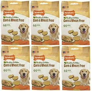 Nylabone Corn Free/Wheat Free Heart w/Real Chicken 264ct Chip (6x44ct)