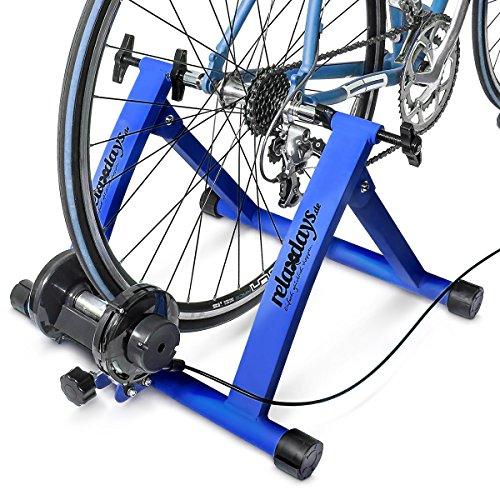 Relaxdays Fahrrad Rollentrainer inkl. Schaltung mit 6 Gänge für 26-28″, bis zu 120 Kg belastbar, Heimtrainer Fahrrad für Indoor Fahrradfahren zu Hause, Stahl