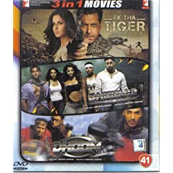 Ek Tha Tiger / Dhoom 2 / Dhoom (Hindi Film / Bollywood Movie / Indian Cinema 3 in 1 - 100% Orginal DVD Without Subtittle)