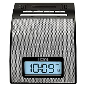 61NpxbNfyqL. AA300  iHome iH11 Alarm Clock with Dock for iPod (Silver)   $30 Shipped