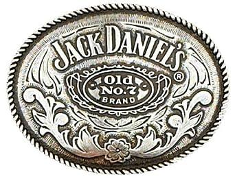 Western Oval Licensed Jack Daniels Belt Buckle