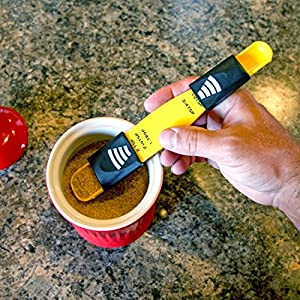 Home-X Adjustable Measuring Spoon. Yellow