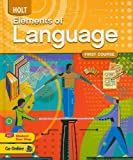 Holt Elements of Language: First Course (0030941938) by Judith L Irvin