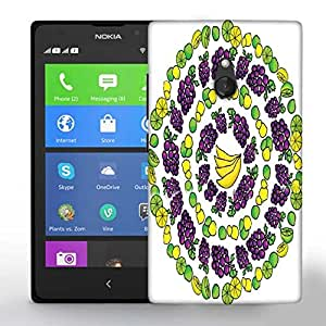 Snoogg Multiple Fruits Printed Protective Phone Back Case Cover For Nokia Lumia XL