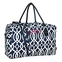 Personalized Navy Vine Weekender Duffle Bag