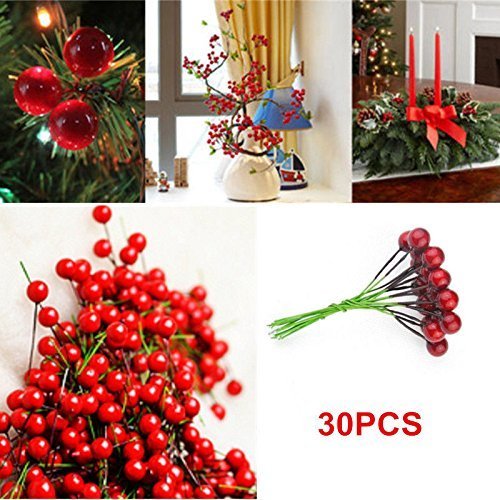 dingdangbell-artificial-red-holly-berry-pick-branch-wreath-for-christmas-tree-decoration-pack-of-30