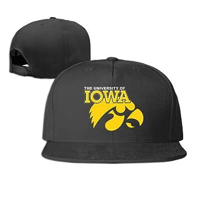 Unisex Iowa Hawkeyes Logo Baseball Cap Black