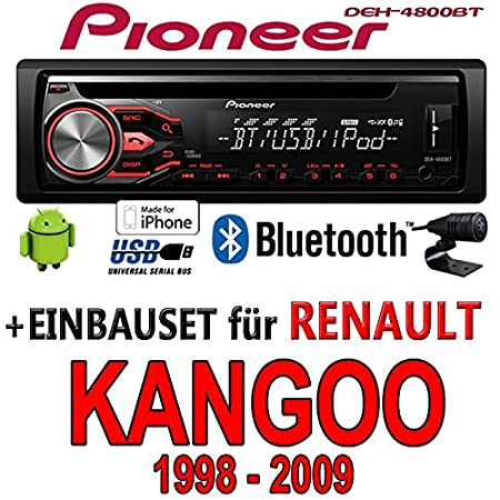 Renault kangoo 1-pioneer dEH - 4800BT-cD/mP3/uSB avec kit de montage