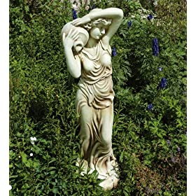 Large Garden Sculptures - Lady with Jug Resin Figurine Statue