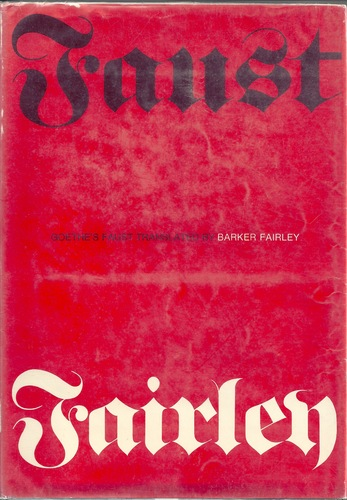 Faust, Goethe, Johann Wolfgang von