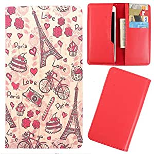 DooDa - For Lava Iris Alfa L PU Leather Designer Fashionable Fancy Case Cover Pouch With Card & Cash Slots & Smooth Inner Velvet