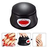 BlueTop Gel Nail Polish Acrylic Steamer Remover Portable Nail Resurrection Harmless Machine Nail Art Tools (electric,black)