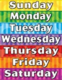 Teacher Created Resources Days of the Week Chart, Multi Color (7608)