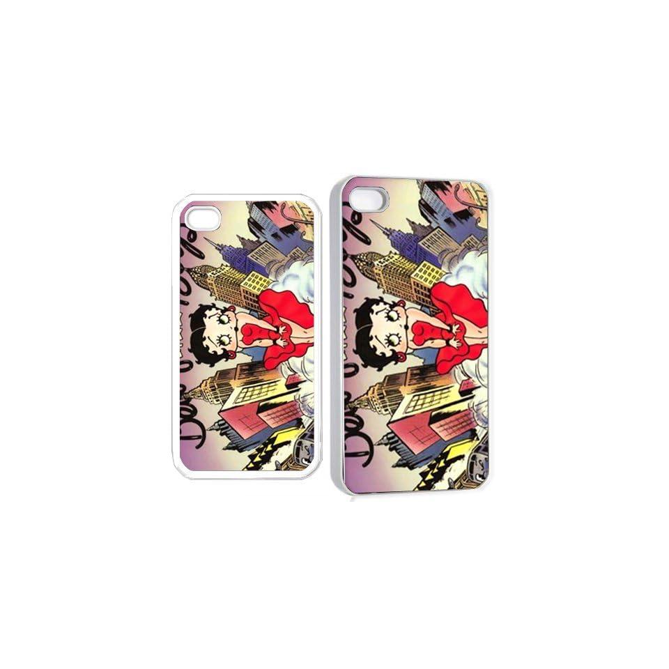 betty boop ve22 iPhone Hard Case 4s White