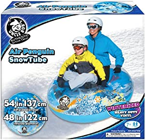 Buy Aqua Leisure Winter Inflatable Round Air Penguin Snow Tube Sled for 2 ( Two ) Riders on Sledding Hill , Fast yet Safe,... by Aqua Leisure