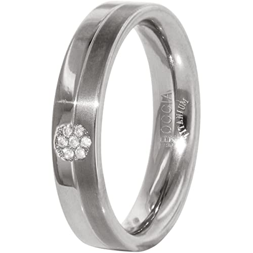 Boccia Unisex You and Me Titanium (0.035 ct) Diamond Ring White Size 65 (20.7) - 0129 0565
