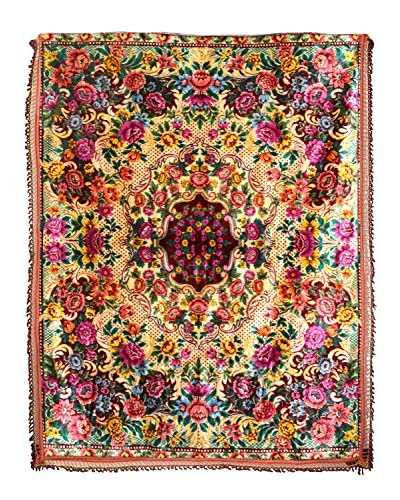 Uptown Down Vintage Detailed Floral Rug, Multi