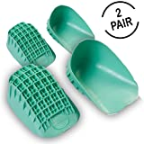 Tuli's Heavy Duty Heel Cups Green (2 Pair) - Pro Heel Cup Perfect for Sever's Disease & Plantar Fasciitis - Small (Under 80lbs)
