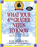 What Your Sixth Grader Needs to Know: Fundamentals of a Good Sixth-Grade Education (Core Knowledge Series) (0385314671) by E.D. Hirsch Jr.