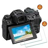 Z6 Z7 Top+Screen Protector Appliable for Nikon Z7/Z6 Camera [2+2Pack],ULBTER 0.3mm 9H Hardness Tempered Glass Cover Anti-Scrach Anti-Fingerprint Anti-Bubble Anti-Water Anti-Dust-3 Pack (Color: Z6 Z7)
