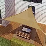 Outsunny  Triangle Outdoor Patio Sun Shade Sail Canopy,  10-Feet,  Sand