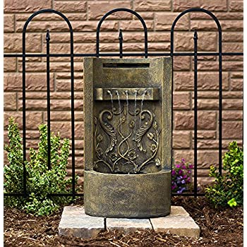 "The Tuscany - 26"" Floor/Wall Fountain: Outdoor 