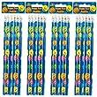 24 x Smiley Face Reward Pencils for Children, Ideal as Teacher Class Gifts