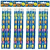 24 x Smiley Face Reward Pencils for Children, Ideal as Teacher Class Gifts