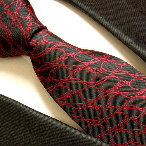 Necktie by Paul Malone black red tie for men