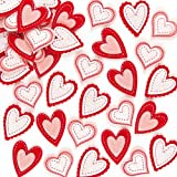 Pretty Heart 3D Felt Stickers Craft Embellishments for Decorating Card Making Pack of 50