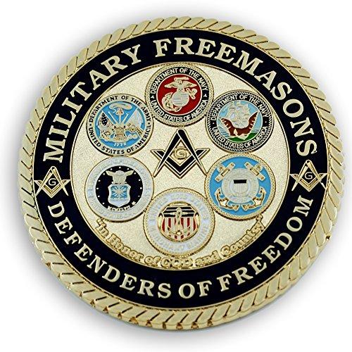 Masonic Exchange Military Masons Defenders Of Freedom Auto Emblem For The Freemason by The Masonic Exchange