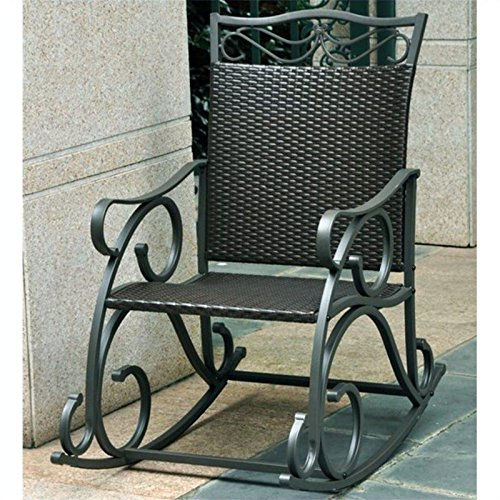 Lisbon Rocking Chair Finish: Black Antique photo