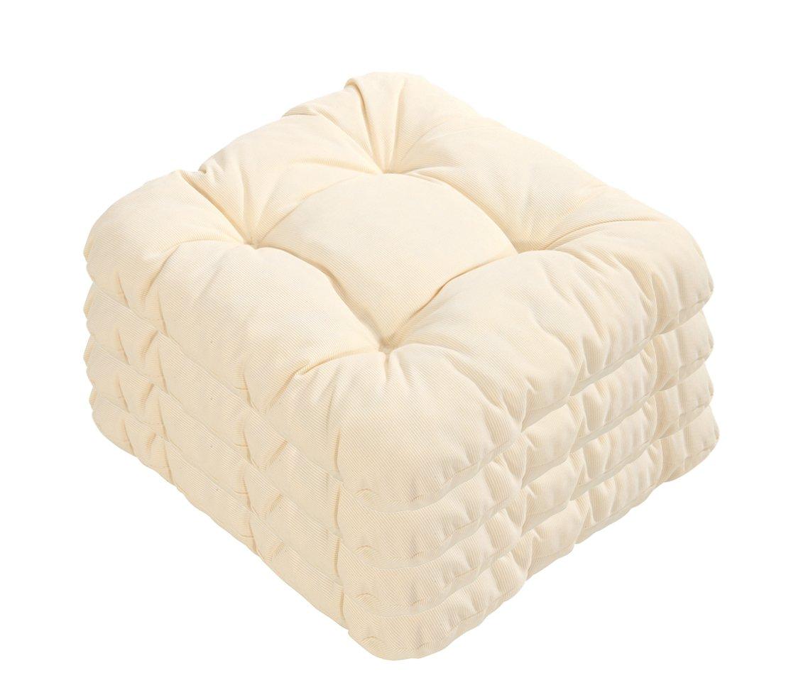 Dehner Susa-Sitzkissen, 4 Stück, je ca. 38 x 38 cm, beige online bestellen
