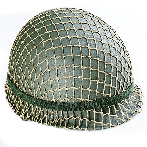 Men`s Ww2 Us Army M1 Green Helmet with Liner Repro