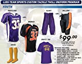 Lids Team Sports® Youth Custom Tackle Twill Football Uniform Package (Call 1-800-327-0074 ext. 221 to order)