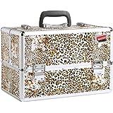 Beautify- Malette cosmétique professionnelle en Aluminium en motif leopard