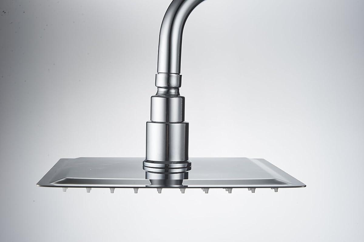 Eyekepper LED 8 inch Stainless Steel ShowerHead Rain Shower head Chrome Ultra Thin