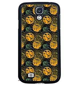 Printvisa Green And Yellow Circular Pattern Back Case Cover for Samsung Galaxy S4 Mini::Samsung Galaxy S4 Mini i9190