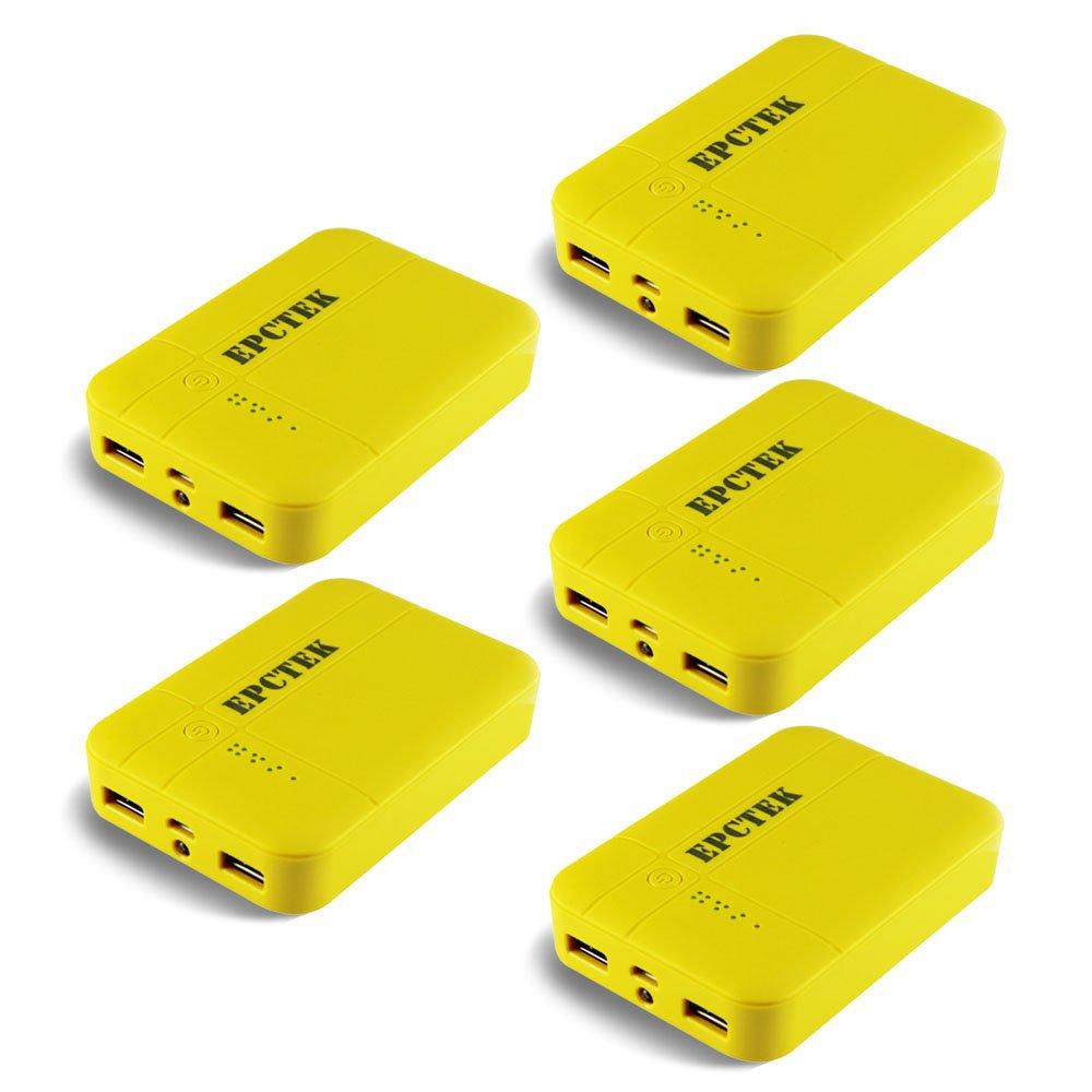 power bank ergonómico amarillo 11200 mAh