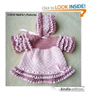 Crochet pattern cp142 baby dress and hat usa terminology