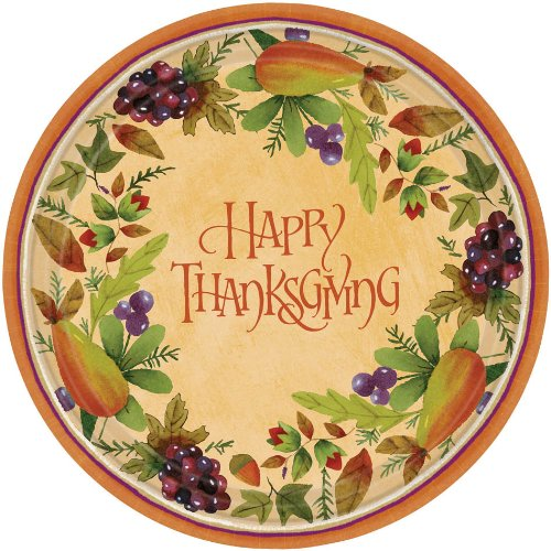 Thanksgiving Medley - Dessert Plates Party Accessory - 1