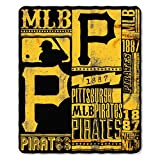 MLB Pittsburgh Pirates Strength Printed Fleece Throw, 50-inch by 60-inch