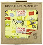 SugarBooger Set of 3 Good Lunch Snack Sack, Icky Bugs