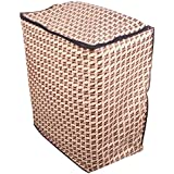 Lithara Abstract Golden Washing Machine Cover For Semi Automatic Machine For Godrej WS 800 PDS 8 Kg Washing Machine