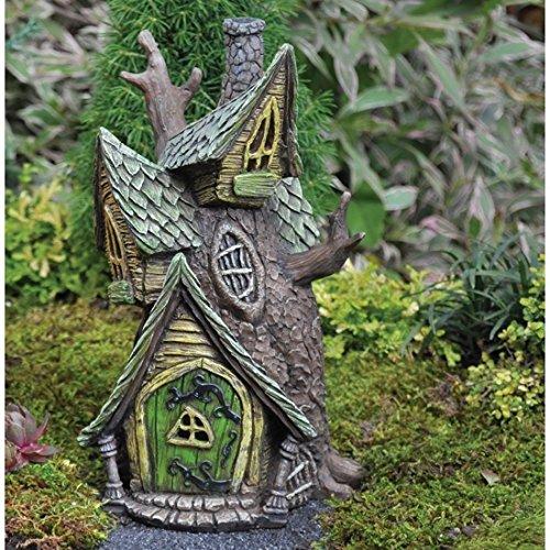 """Fiddlehead Fairy Village - """"Tree House"""" Fairy Home with Bonus Novelty Fairies Bill and Log Cabin Coin"""