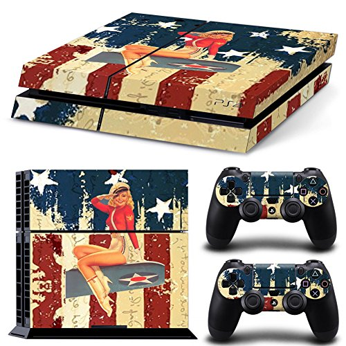 FriendlyTomato-PS4-Console-and-DualShock-4-Controller-Skin-Set-USA-Flag-US-AIRFORCE-ARMY-PlayStation-4-Vinyl